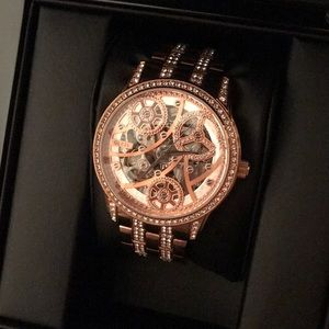 Guess automatic self wind rose gold watch